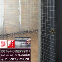 《即日出荷》ビニールカーテン「丈が調節できる既製サイズ」 幅195cm×丈250cm / 防炎 透明 無色透明 糸入り 丈夫なPVC防炎ビニールカーテン〈0.35mm厚〉【FT06】[ビニールシート ビニシー ガレージ ベランダ 部屋の間仕切に 冷暖房効果UP 節電 防塵 防虫対策に 防寒]