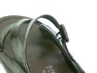 【INCHOLJE-インコルジェ-】エナメルミュール風サンダル☆本革☆日本製☆No.4040【甲高・幅広・外反母趾さん必見!】