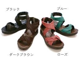 【INCHOLJE-インコルジェ-】クロスベルトサンダル☆本革☆日本製☆No.4037