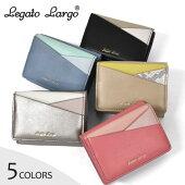 フェイクレザーカラフル3配色三つ折りミニ財布