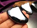 ●【テラヘルツ鉱石 ミニかっさプレート 携帯用ポーチ付き】縦...
