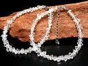 ●(中) ハーキマー結晶 ブレスレット 石サイズ幅約5-8mm 天然石の魅力感...