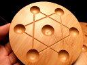 ナチュラル素材の七星盤 石に優しい天然 竹製 七星陣 直径120ミリ