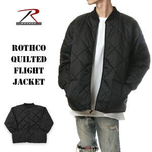 ロスコ ジャケット メンズ レディース キッズ 大きいサイズ ROTHCO キルティング フライトジャケット 中綿ジャケット ブランド 冬 アウター ビッグシルエット 大きめ ゆったり 作業着 防寒 ミリタリー サバゲー ダンス 衣装 黒 ブラック S M L XL