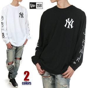 ニューエラ Tシャツ 長袖 メンズ レディース ロンT NEW ERA ニューヨーク ヤンキース NY YANKEES 長袖Tシャツ 大きいサイズ NEWERA ビッグTシャツ ビッグシルエット おしゃれ ゆったり USA ブランド ファッション 白 黒 ホワイト ブラック 12325232