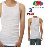 FRUITOFTHELOOMフルーツオブザルームタンクトップ3枚入りAシャツ(ホワイト)fru01