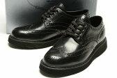 プラダ/PRADA/【送料無料】ブローグシューズ/革靴/ブラック【子供靴】【キッズ】【ジュニア】【サイズEU30〜EU37(18.5cm〜23cm)】【あす楽対応_関東】