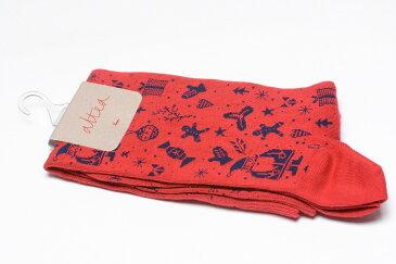 【割引アイテム】altea アルテア ソックス 靴下 『Xmas』 コットン メンズ ブランド イタリア ギフト プレゼント ラッピング無料