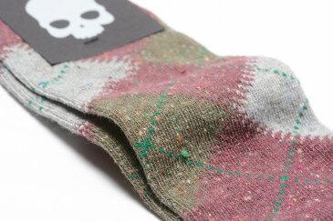 【割引アイテム】HYDROGEN ハイドロゲン ソックス 靴下 アーガイル コットン メンズ ブランド イタリア ギフト プレゼント ラッピング無料