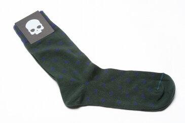 【割引アイテム】HYDROGEN ハイドロゲン ソックス 靴下 コットン ドット柄 メンズ ブランド イタリア ギフト プレゼント ラッピング無料