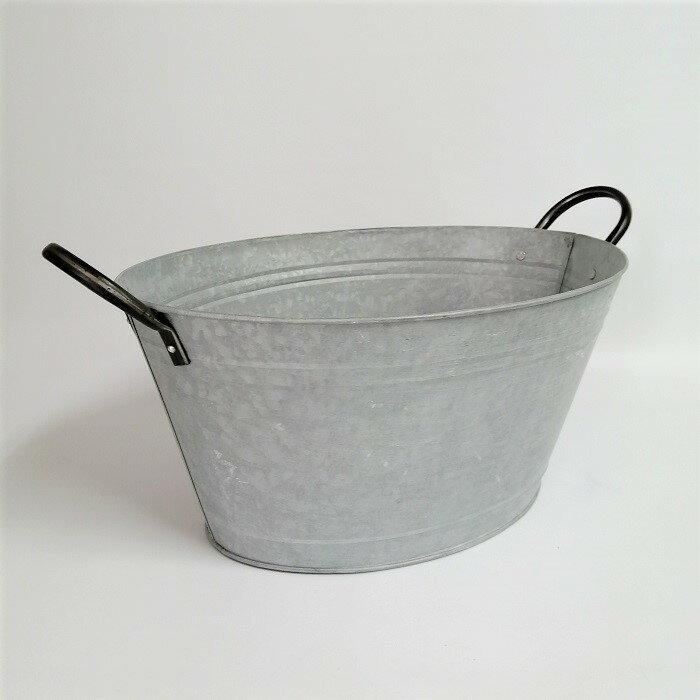 ノルマンディーオーバルポット SP-HUY810L ブリキ 鉢 鉢カバー プランター ポット バケツ 缶 ガーデニング雑貨 ガーデン雑貨 インテリア雑貨 ナチュラル アンティーク かわいい おしゃれ ポイント消化 BOWL