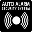メール便可!【シール】 AUTO ALARM SECURITY SYSTEM (音波マーク) No.2 45mmx45mm