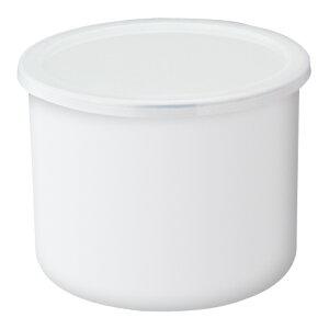 塩分や乾燥に強い琺瑯容器。冷蔵庫の漬け物保存に最適です。【富士ホーロー】18cm深型フリッカ...