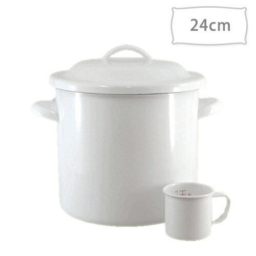 ホーロー保存容器富士ホーローストッカー丸缶24cm9.2LN-24STポリフタメジャーカップ付き