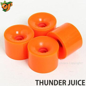 オージェイ サンダー ジュース 【OJ THUNDER JUICE】 スケートボード ウィール ソフト クルーザー スクエアシェイプ ロングボード サーフスケート カラー:Orange サイズ:75mm/78a