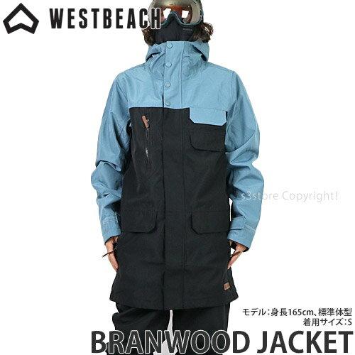 メンズウェア, ジャケット 20model WESTBEACH BRANWOOD JACKET SNOWBOARD WEAR MENS :ENDLESS BLUEBLACK
