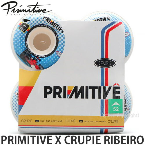 パーツ, ウィール  PRIMITIVE X CRUPIE RIBEIRO :BLUE :52mm101a