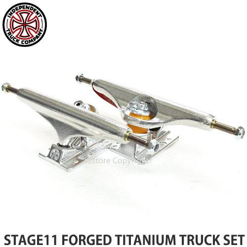 パーツ, トラック  11 INDEPENDENT STAGE11 FORGED TITANIUM TRUCK SET SKATE Color:Silver Size:169Std