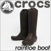 驚きの可動域と軽さを実現したレインブーツ!crocs rainfloe boot w【クロックス レインフロー ブーツ ウィメンズ】カラー:espresso/espresso