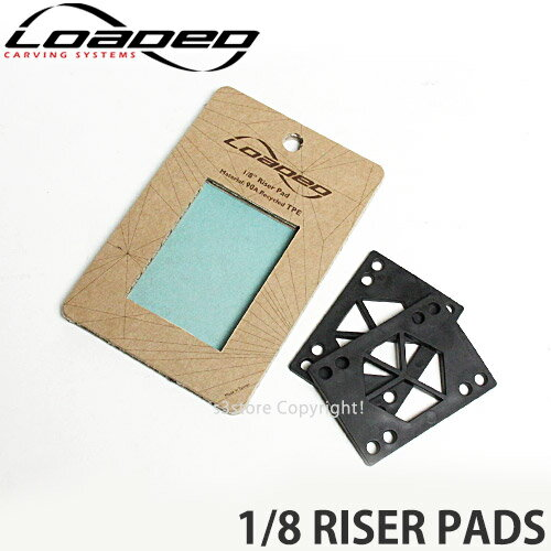 パーツ, その他  LOADED RISER PADS SKATEBOARD :BLACK :18inch