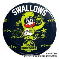 東京ヤクルトスワローズ公認グッズJURASSICWORLD×スワローズドデカ缶バッジ