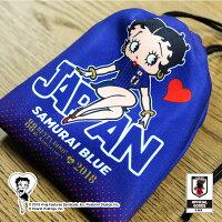 BASEBALLGOODSSHOPイチオシ商品!BETTYBOOP™×サッカー日本代表ver.巾着