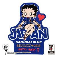 BASEBALLGOODSSHOPイチオシ商品!BETTYBOOP™×サッカー日本代表ver.ステッカー