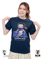 BASEBALLGOODSSHOPイチオシ商品!BETTYBOOP™×サッカー日本代表ver.Tシャツ