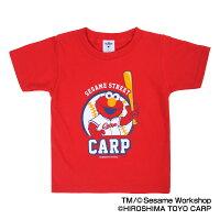 広島東洋カープ公認グッズSESAMESTREET×カープTシャツ(ELMO)(子供用)