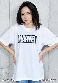 福岡ソフトバンクホークス公認グッズMARVEL/ホークスボックスロゴTシャツ