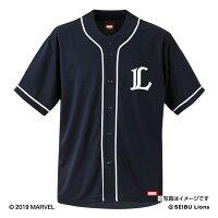 埼玉西武ライオンズ公認グッズMARVEL/ライオンズベースボールシャツ