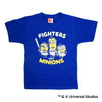 北海道日本ハムファイターズ公認グッズミニオン×ファイターズTシャツ(子供用)