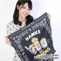 福岡ソフトバンクホークス公認グッズミニオン×ホークスバンダナ