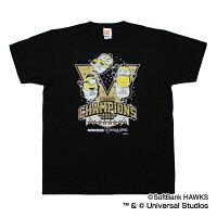 福岡ソフトバンクホークス公認グッズホークス17日本一ミニオンコラボTシャツ