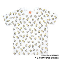 福岡ソフトバンクホークス公認グッズミニオン×ホークス総柄Tシャツ(子供用)