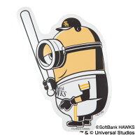 福岡ソフトバンクホークス公認グッズミニオン×ホークスステッカー