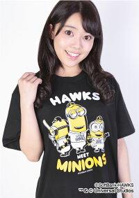 福岡ソフトバンクホークス公認グッズミニオン×ホークスTシャツ(大人用)