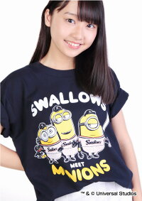 ヤクルトスワローズ公認グッズミニオン×スワローズTシャツ(大人用)