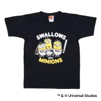 東京ヤクルトスワローズ公認グッズミニオン×スワローズTシャツ(子供用)