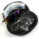 Broptical スポーツ サングラス セット ケース付き サバゲー ゴルフ アウトドア 紫外線 グラス 眼鏡