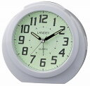 LANDEX(ランデックス) 目覚まし時計 レグルス・スター アナログ表示 全面蓄光 ホワイト YT5244WH [4981480524414-YT5244WH]