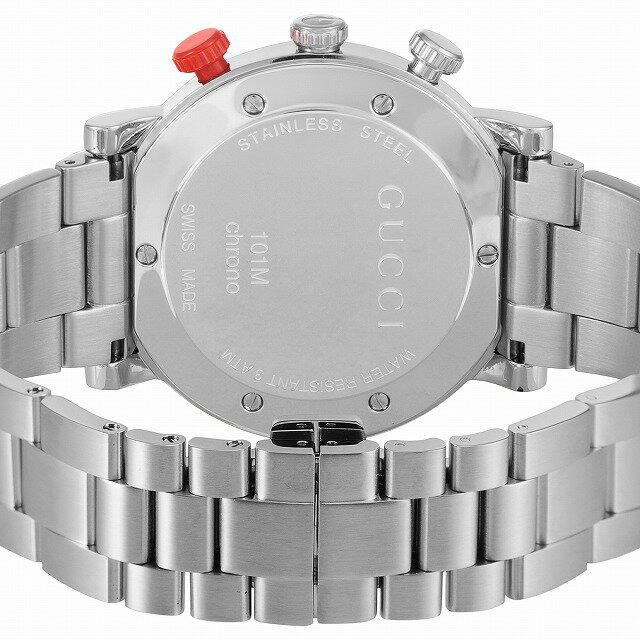 【店頭受取対応商品】[3年保証]GUCCI グッチ 腕時計 ウォッチ Gクロノ ブラック文字盤 YA101361 メンズ [並行輸入品]