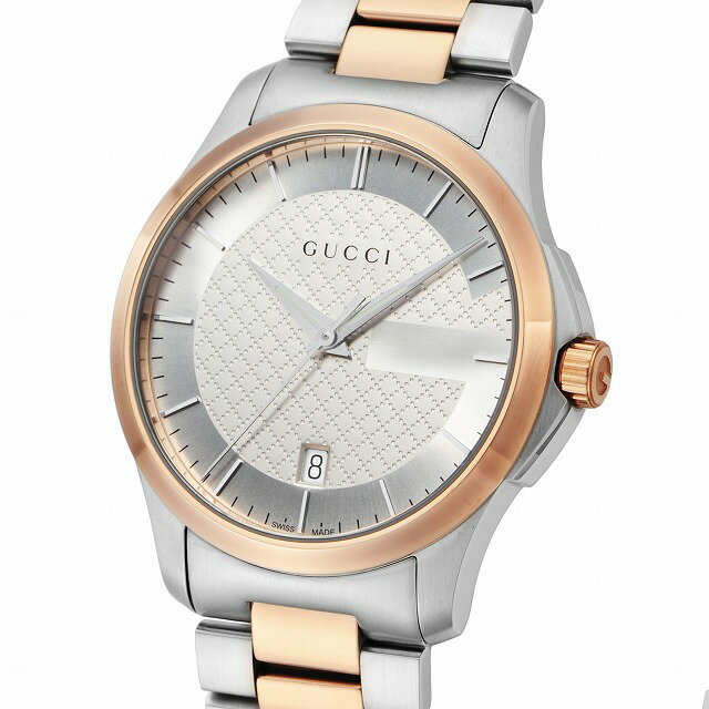 【店頭受取対応商品】[3年保証][グッチ]GUCCI 腕時計 Gタイムレス シルバー文字盤 YA126447 メンズ [並行輸入品]