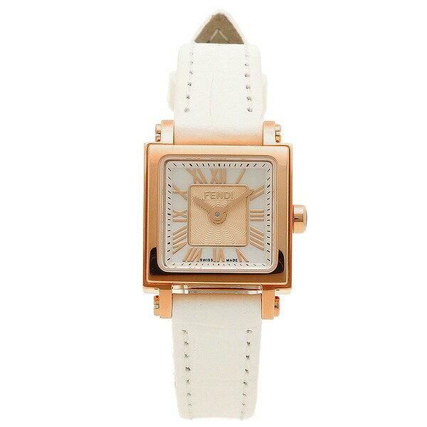 [フェンディ]FENDI 腕時計 QUADOROMINI ホワイトパール文字盤 F604524541 レディース