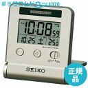 SEIKO CLOCK セイコー クロック 時計 夜間点灯電波デジタルトラベラ(薄金) SQ772G[4517228034602-SQ772G]