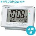 SEIKO CLOCK セイコー クロック 目覚まし時計 電波 デジタル ウィークリー アラーム カレンダー 快適度 温度 湿度 表示 白 SQ775W SEIKO [4517228035791-SQ775W]