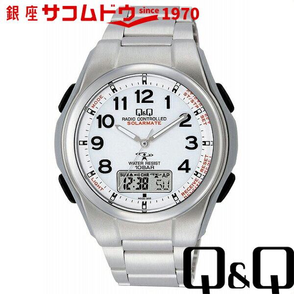 最大5000円OFFクーポン23日(金)09:59迄 Q&Qキューアンドキュー腕時計ウォッチ電波ソーラー腕時計SOLARMAT