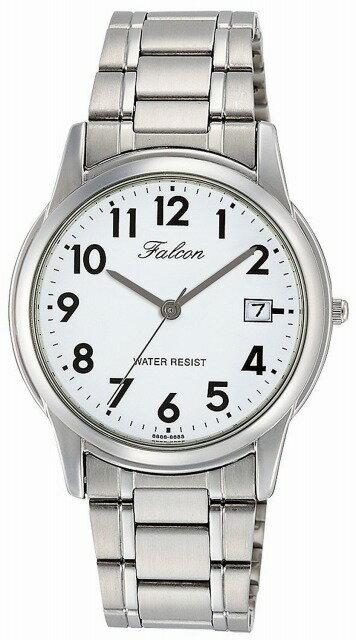 Q&Q 腕時計  キューアンドキュー Falcon ファルコン アナログ ブレスレット 日付 表示 ホワイト D010-204 メンズ[メール便 日時指定代引不可][チープ チプシチ]