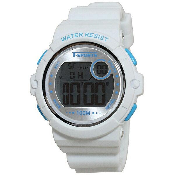 クレファー CREPHA  アナログ・デジタル腕時計 T-SPORTS ホワイト TS-D041-WT[スポーツ ファッション ウォッチ][3up]
