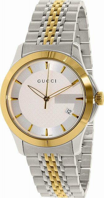 グッチ 時計 メンズ GUCCI 腕時計 Gタイムレス 40mm シルバー×ゴールド YA126409